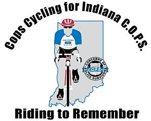 Cops Cycling for Indiana