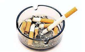 smoking ciggarette