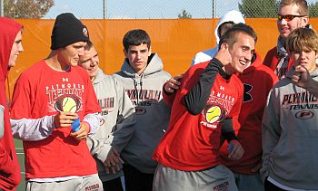 PHS_Tennis_Fist Pump with Team