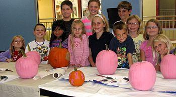 Paint Your Pumpkin Pink Kid Zone Adventure