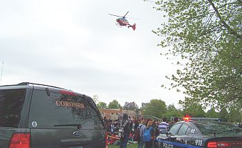 MockCrash_Coroner,police,helicopter