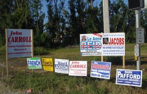 PoliticalSigns in right of way