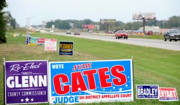 PoliticalSigns in State right of way