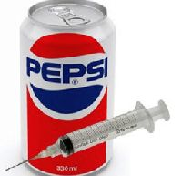 Syringe in pepsi can
