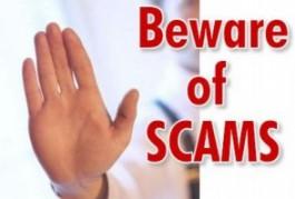 Beware of scams