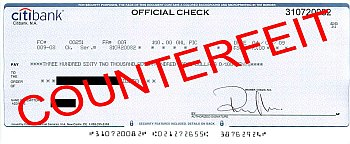 Counterfeit Check