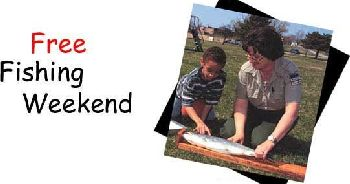 Free fishing this weekend wtca fm 106 1 and am 1050 the for Indiana fishing license age