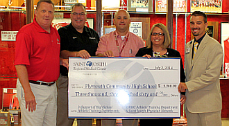 Sjrmc Amp Physician Network Donate To Phs Althletic Training