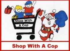 Shop With A cop logo Shoping Cart