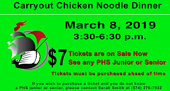 Selling Chicken Noodle Dinner Tickets offers PHS