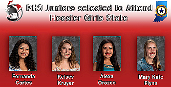 PHS Juniors selected to Attend Hoosier Girls State 2019