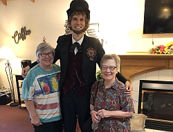Miller's_Abraham Lincoln and Kathy and Sue Kuly 2019