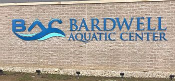 Dr. Susan Bardwell Aquatic Center Sign