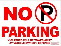 No parking Front Yard