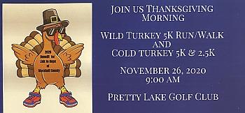 Wild Turkey Thanksgiving run 2020